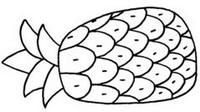 菠萝怎么画简笔画图解