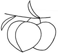 水蜜桃怎么画简笔画图解