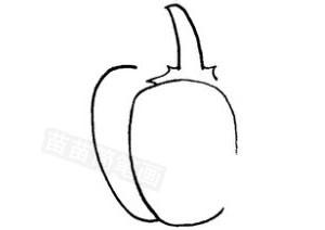 青椒怎么画简笔画图解