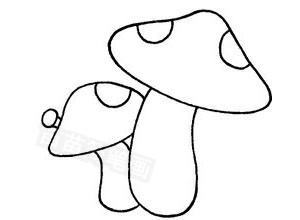 蘑菇怎么画简笔画图解