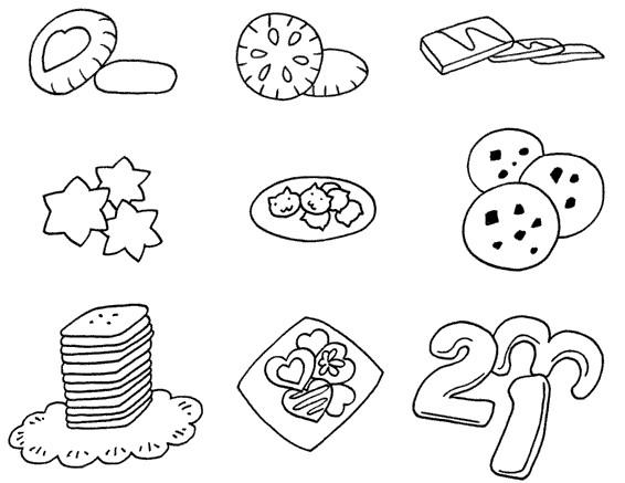 饼干怎么画简笔画图解