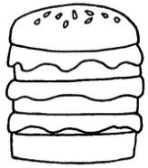 汉堡怎么画简笔画图解