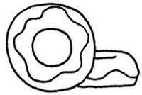 甜甜圈怎么画简笔画图解