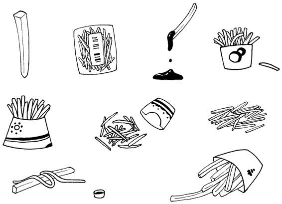 薯条怎么画简笔画图解
