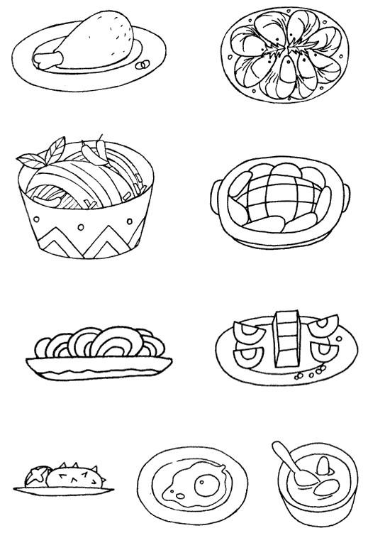 中餐怎么画简笔画图解