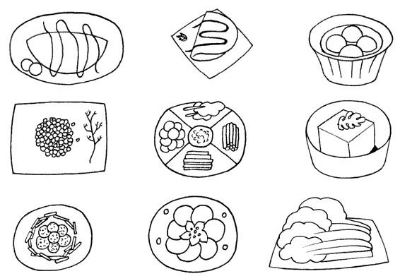 火锅、烤串、鱼汤.