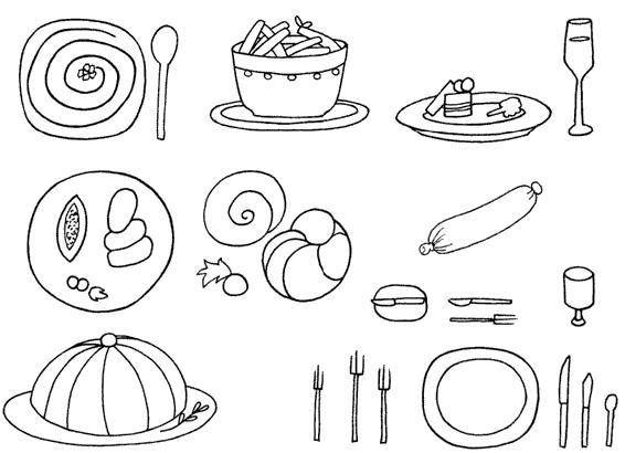 西餐怎么画简笔画图解