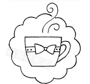咖啡怎么画简笔画图解