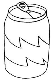 易拉罐饮料怎么画简笔画图解