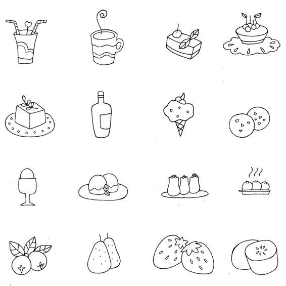 食物小图简笔画图片