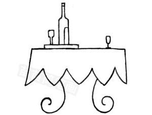 桌子怎么画简笔画图解