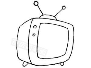 电视机怎么画简笔画图解