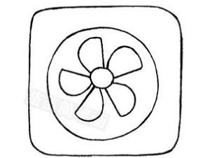 电扇怎么画简笔画图解
