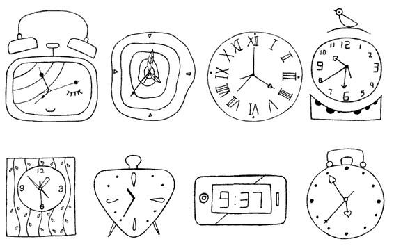 闹钟怎么画简笔画图解