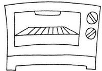 烤箱怎么画简笔画图解