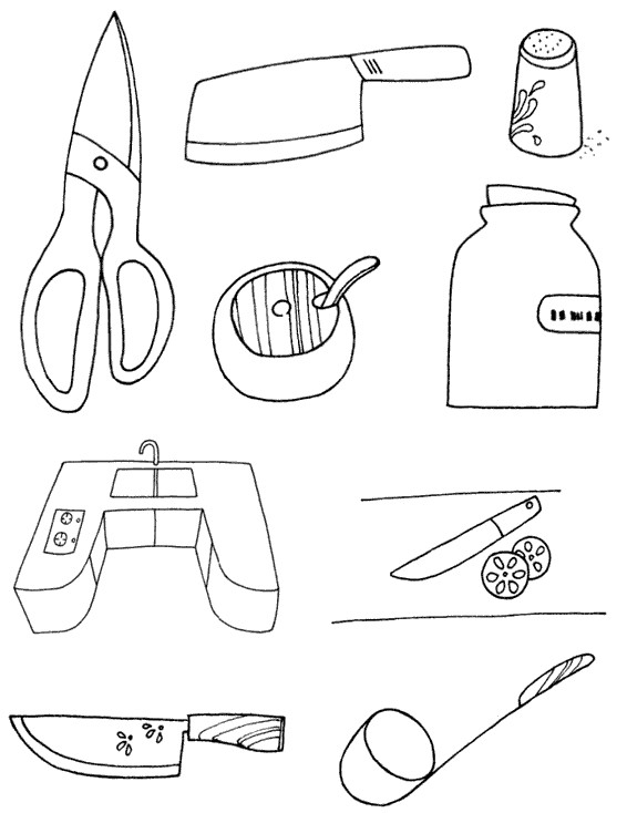 厨房用品怎么画简笔画图解