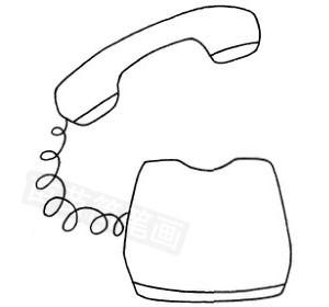 电话怎么画简笔画图解