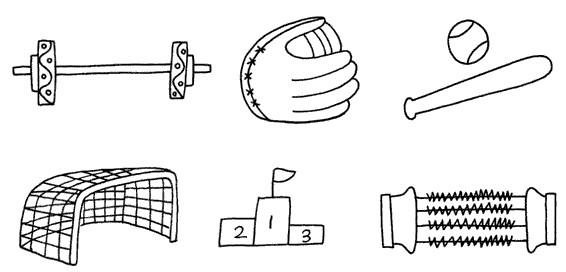 体育用品怎么画简笔画图解