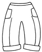 裤子怎么画简笔画图解