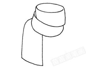 围巾怎么画简笔画图解
