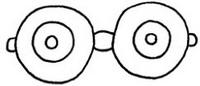 眼镜怎么画简笔画图解