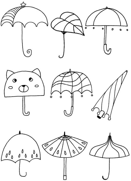 伞怎么画简笔画图解