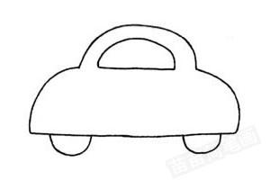 简笔画 小汽车图片