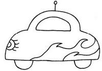 小汽车怎么画简笔画图解