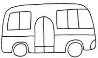 公共汽车怎么画简笔画图解