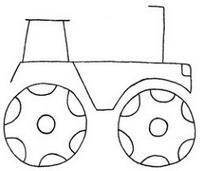 拖拉机怎么画简笔画图解