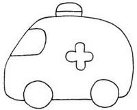 救护车怎么画简笔画图解