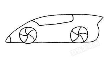 跑车怎么画简笔画图解
