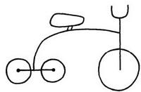 三轮车怎么画简笔画图解
