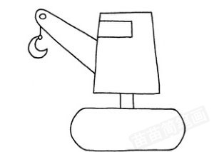 吊车怎么画简笔画图解