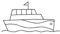 游轮怎么画简笔画图解