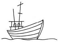 渔船怎么画简笔画图解
