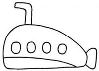 潜水艇怎么画简笔画图解