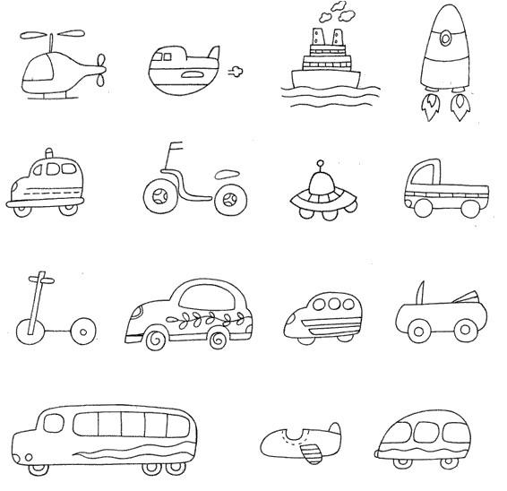 交通小图简笔画图片