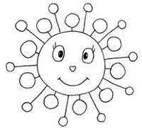 太阳怎么画简笔画图解