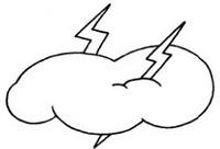 雷电怎么画简笔画图解