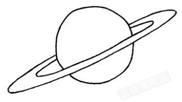 星球怎么画简笔画图解