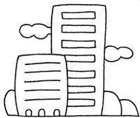 大厦怎么画简笔画图解
