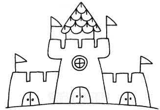 城堡怎么画简笔画图解
