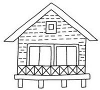 木屋怎么画简笔画图解