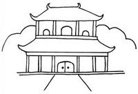 中国古代建筑怎么画简笔画图解
