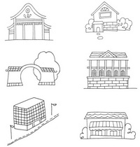 建筑小图简笔画图片