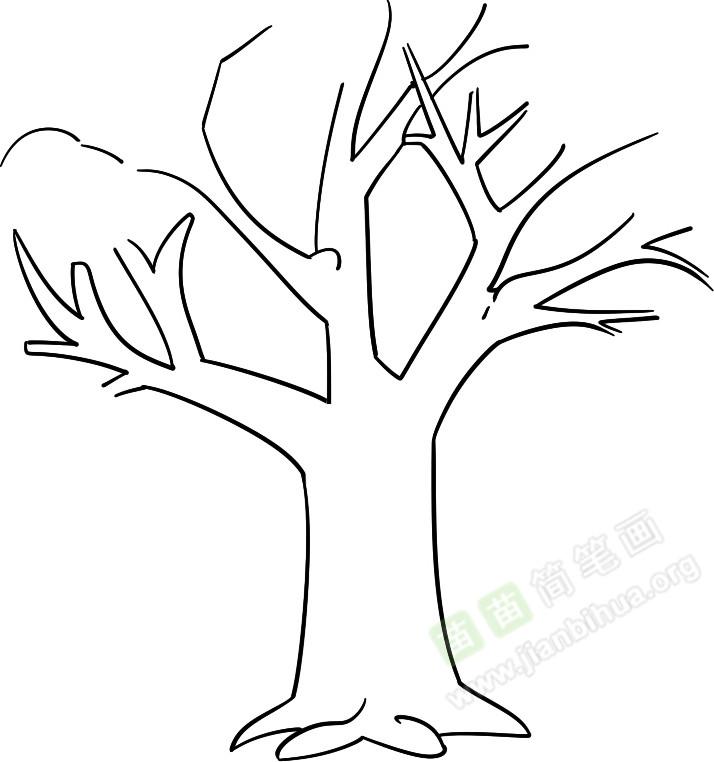哭泣的树简笔画