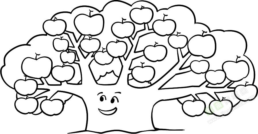 苹果树图片简笔画_苹果树简笔画图片教程