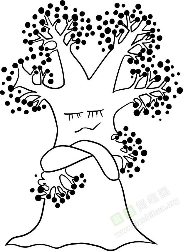 神气的树简笔画图片教程