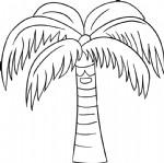 椰子树简笔画图片教程(一)